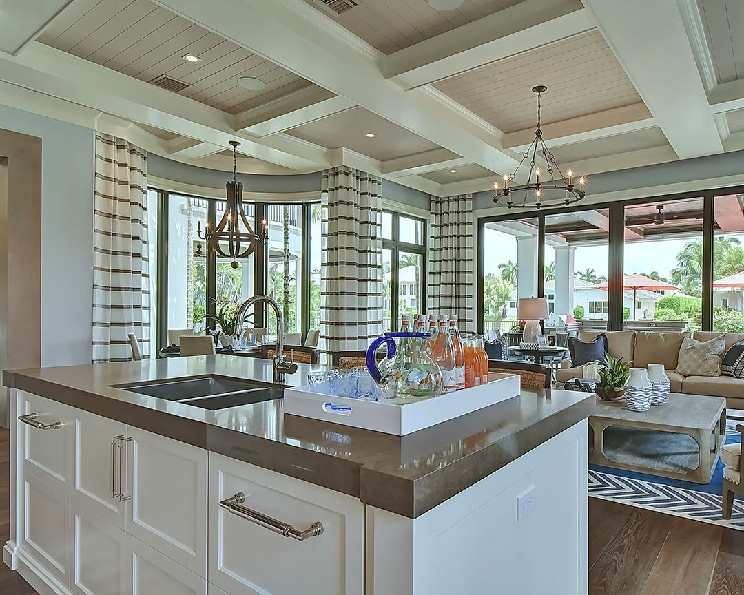 Stunning Open Plan Kitchen Interior Design By Marc Michaels Interior