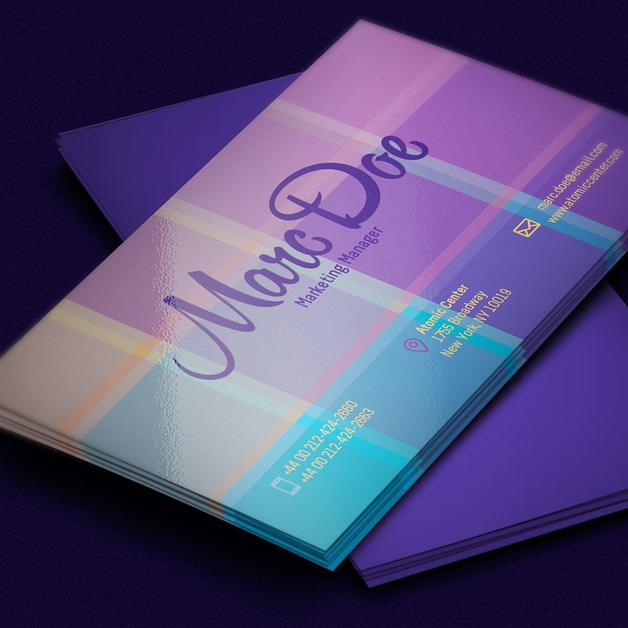 Free Business Card Template PSD For Print | http://www ...