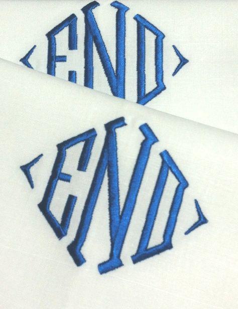 Monogrammed Linen Napkins Blake Monogram Table Linens