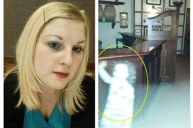 LOUISE Murphy and her son Owen visited the Riverside Museum's Victorian-themed street and were shocked to discover they had a captured the haunting image.16