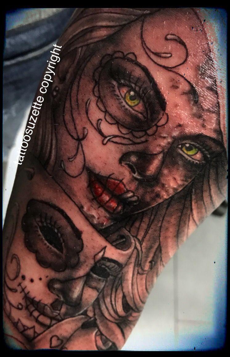 santa muerte tattoo #tattoo #tattoodesign #tatouage #catrina ...