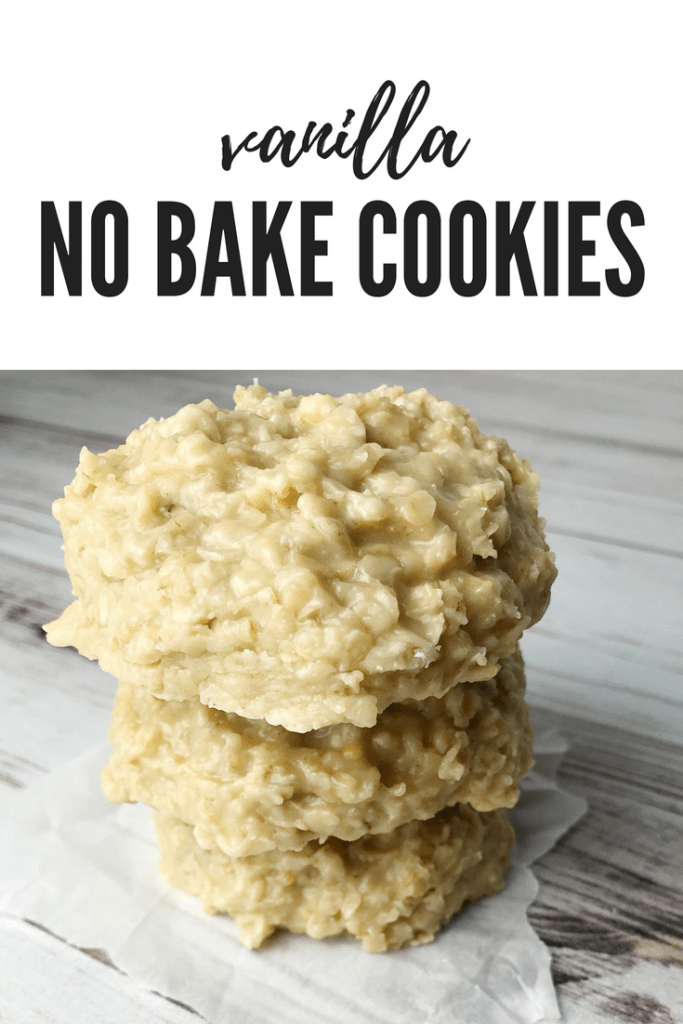 Vanilla No Bake Cookies