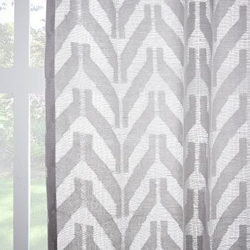 Sheer Chevron Curtain Frost Gray Chevron Curtains Curtains Window Coverings