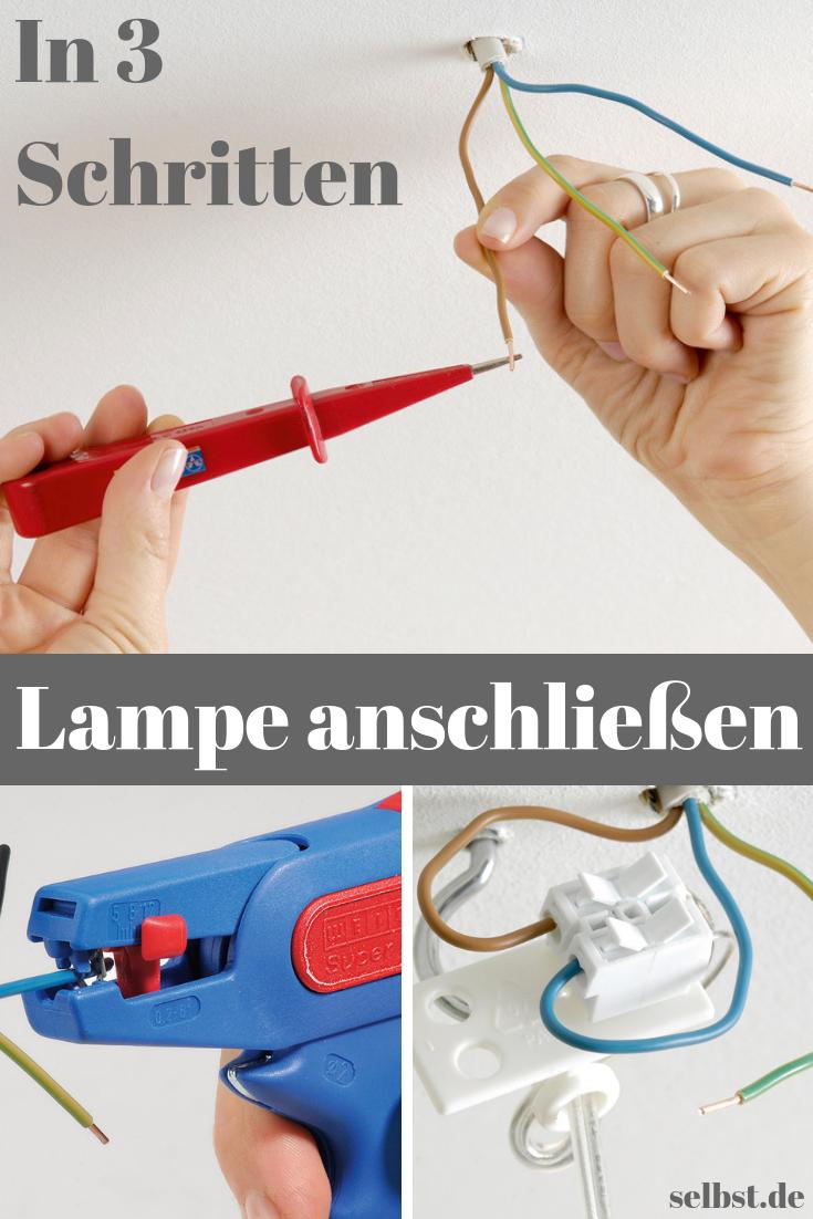 Lampe Anschliessen Selbst De Lampe Anschliessen Elektroinstallation Selber Machen Lampe
