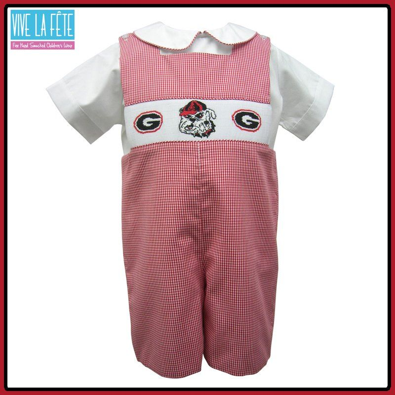 Vive La Fete Soccer Player Smocked Boys Shortall