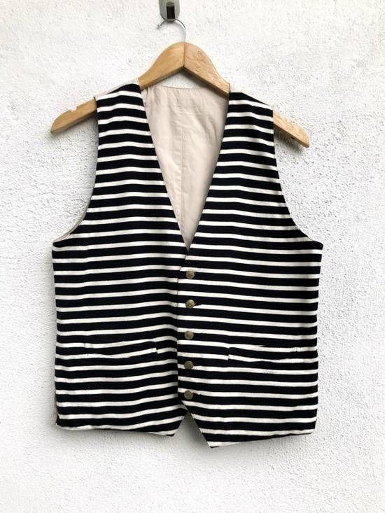 "Japanese Brand Japanese Brand Comme Ca Commune Reversible Stripes Cotton Vest Armpit 19""x22.5"" Size 38r - Vests for Sale - Grailed"