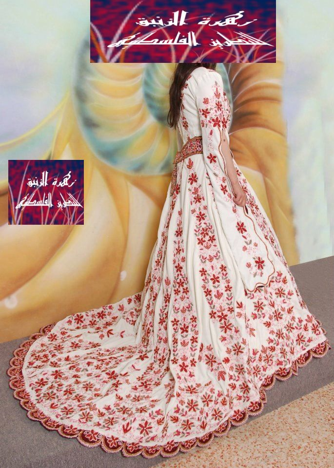 amazing gown for a wedding | Palestinian Embroidery | Pinterest ...