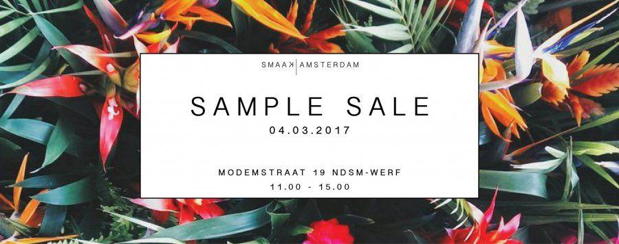 Sample sale Smaak Amsterdam -- Amsterdam -- 04/03