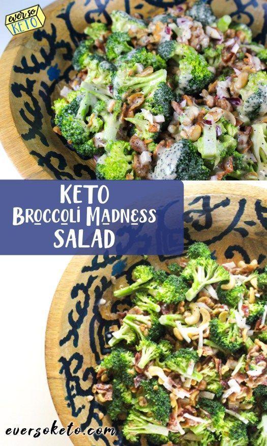 Keto Broccoli Salad #lastketo #keto #ketorecipes #ketofood #ketohealth #salads #fitness #diet #ketoh...