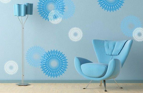 feurwerke Wandgestaltung mit Farbe wandfarben ideen - wandgestalten mit farbe