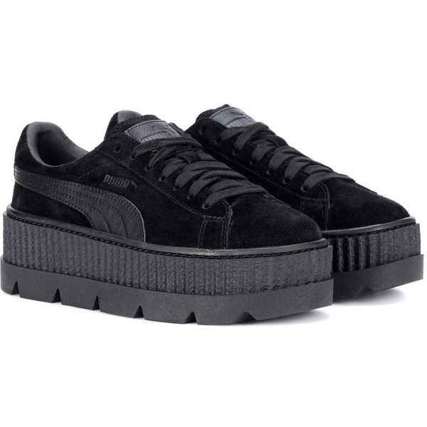 Fenty by Rihanna Cleated Creeper Suede Sneakers (990 GTQ) ❤ liked on Polyvore  featuring shoes ae381c340