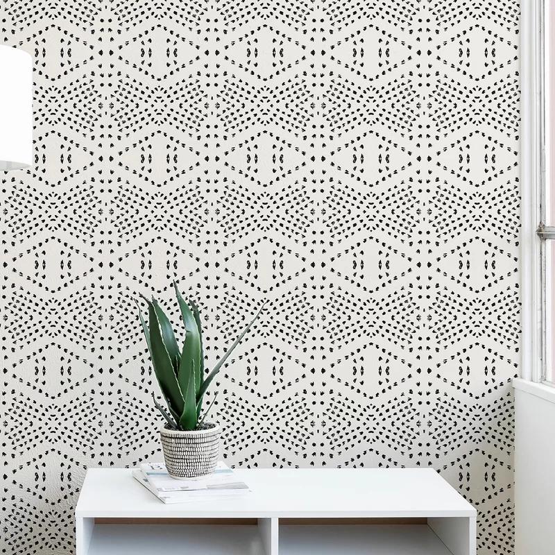 Holli Zollinger Tile Matte Peel And Stick Wallpaper Panel Reviews Allmodern Wallpaper Accent Wall Peel And Stick Wallpaper Wallpaper Panels