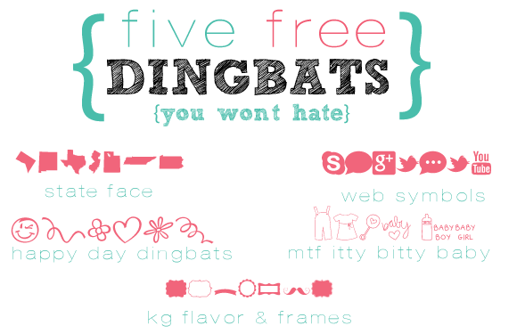 five free DINGBATS (you won't hate)  tjn