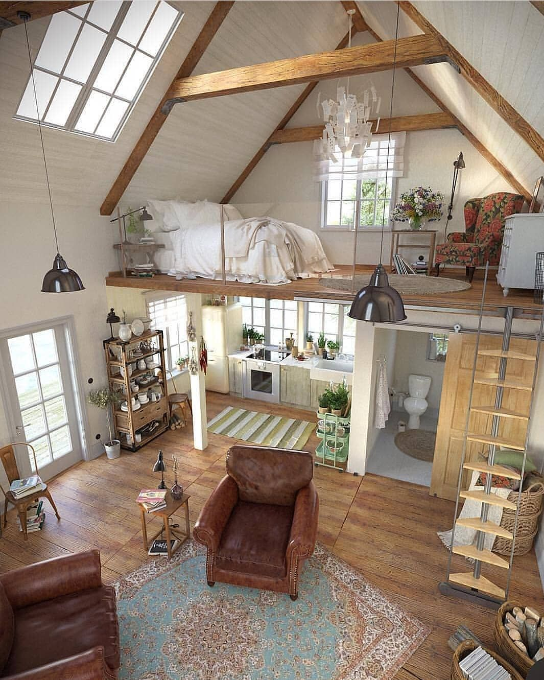 Tiny House Hunter On Instagram This Tiny Home Is Gorgeous We Love All The Light And The Open Floor Plan What Do You Think Co Tiny House Design