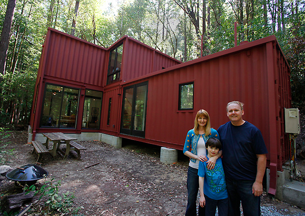 Shipping Container Cabin In The Woods Alternative Homes