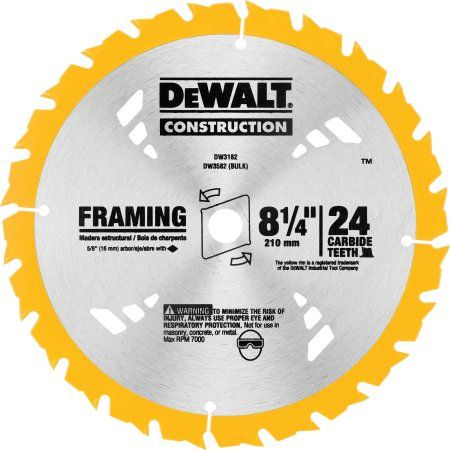 8 1 4 24th Carbide Blade Multicolor Circular Saw Blades Dewalt Saw Blade