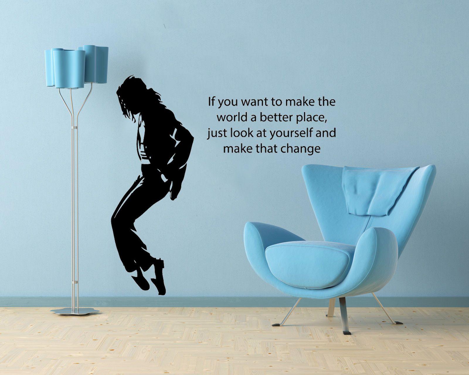 Michael Jackson Vinyl Wall Art Decor Music Lyric Decal Sticker
