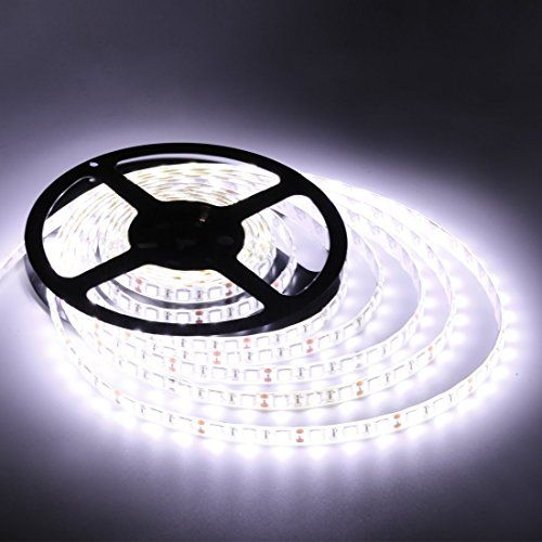 Flexible Led Strip Lightswhite300 Units Smd 5050 Ledswaterproof12 Volt Led Light Strips Pack Of 164 Led Strip Lighting Strip Lighting Flexible Led Strip Lights
