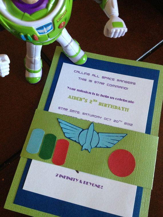 Buzz Lightyear Birthday Invites By Simplylinnncreations On