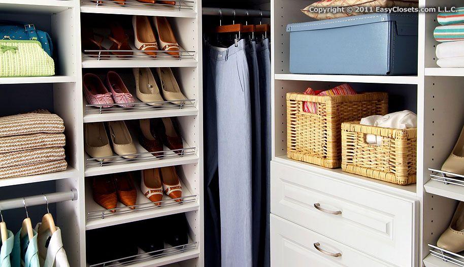 Closet Organizers For Your Bedroom By EasyClosets.com I Like The Slanted  Shoe Shelves