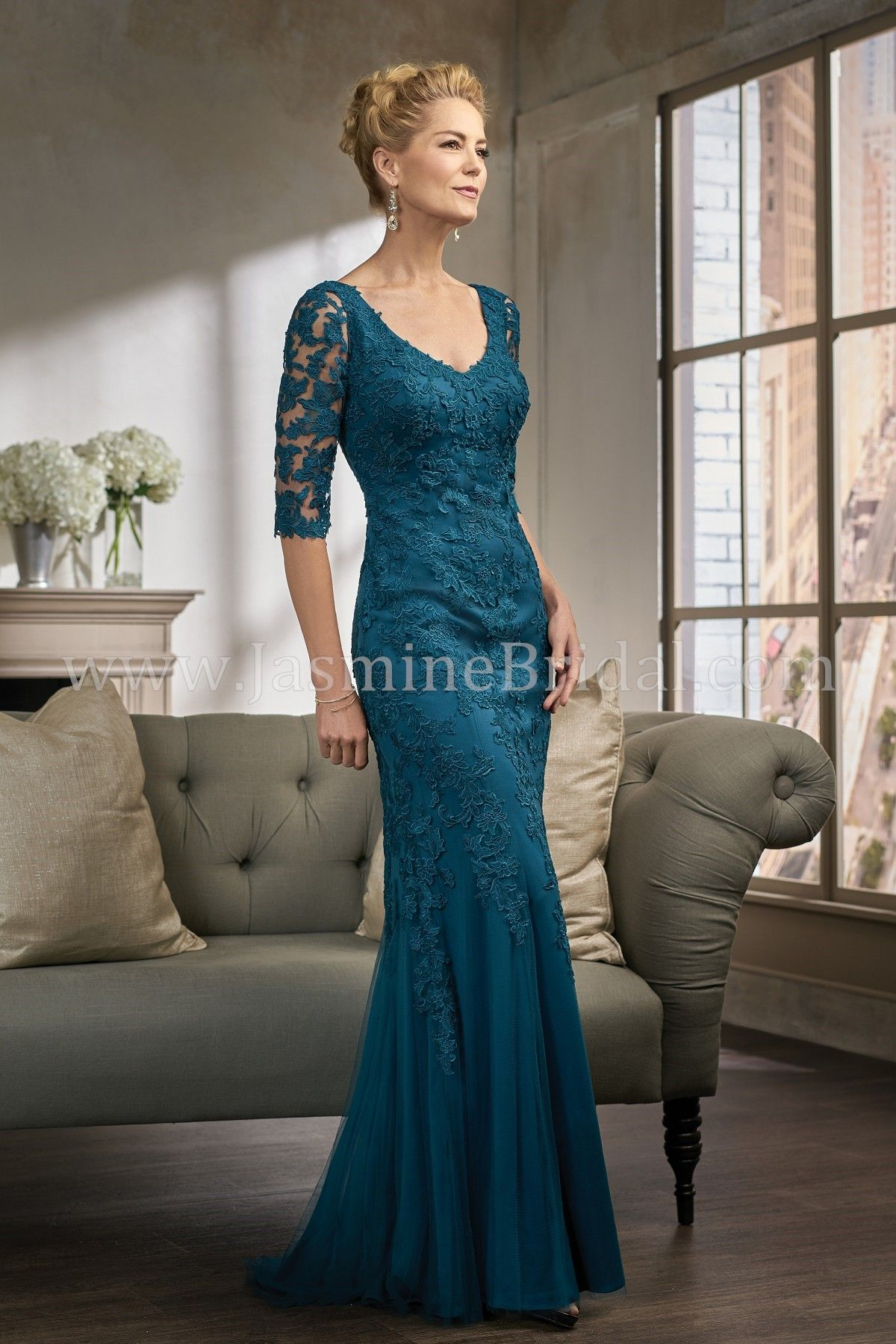 Jasmine bridal jade couture style k in new teal