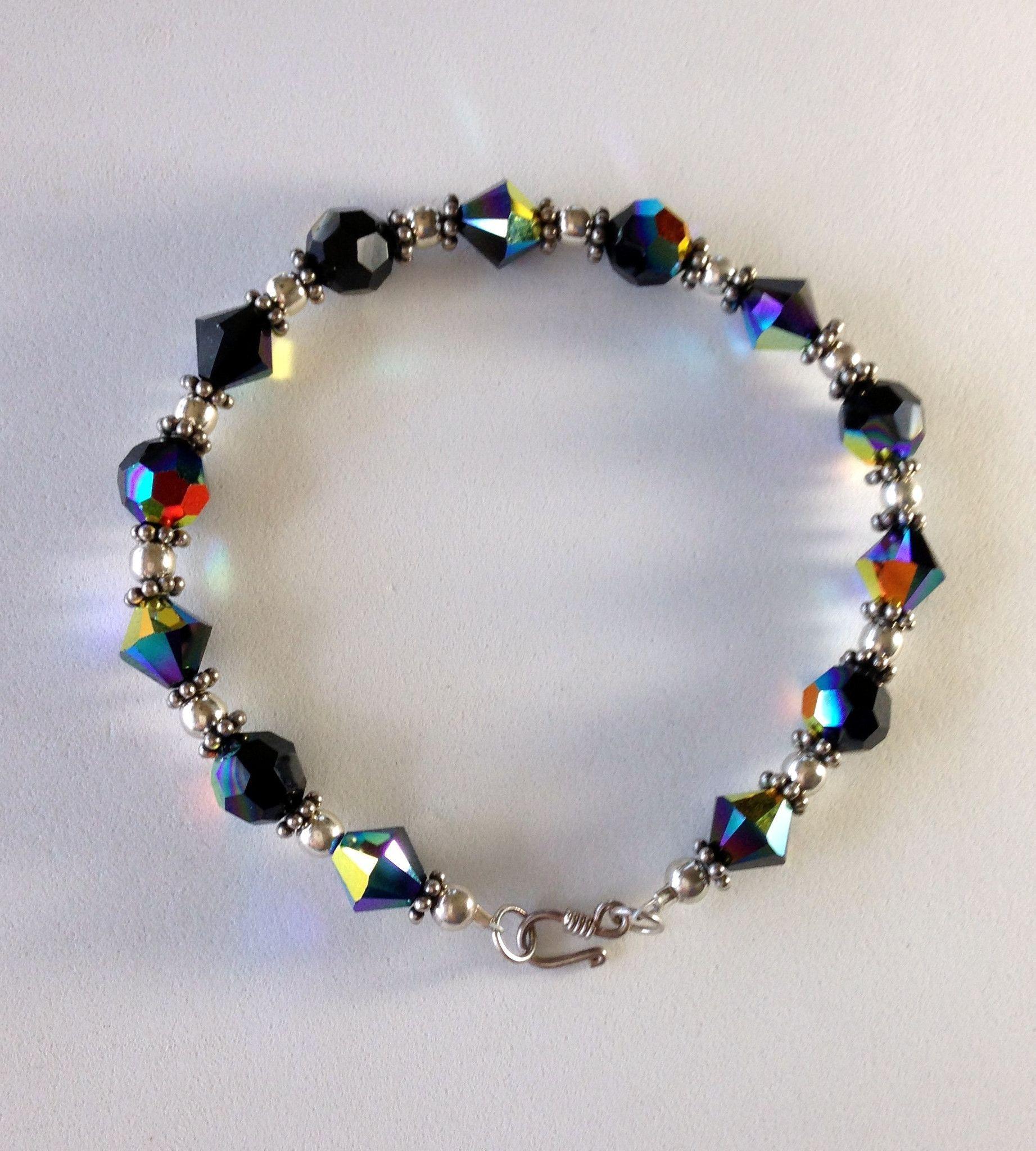 3cee76e3f71c Bracelet - Swarovski Crystals - Sterling Silver