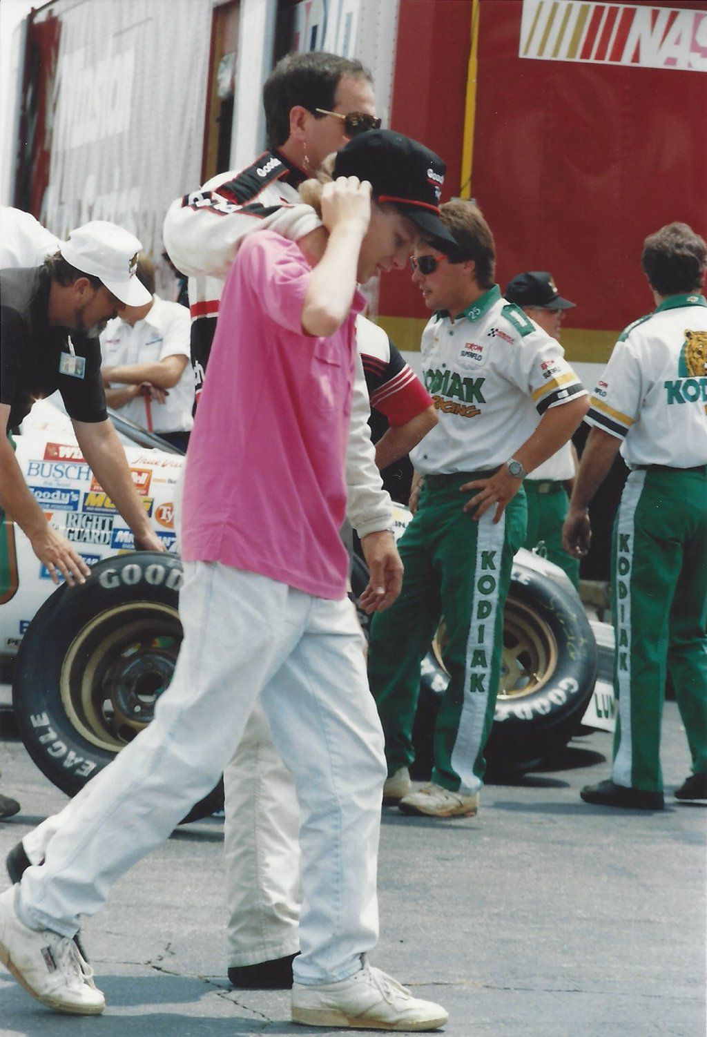 """Racer Randy on Twitter: """"""""Back in the day."""" a father-son moment with @DaleJr and Dale Sr.  Taken @CLTMotorSpdwy in the 1990's https://t.co/lQeg7VyjdA"""""""