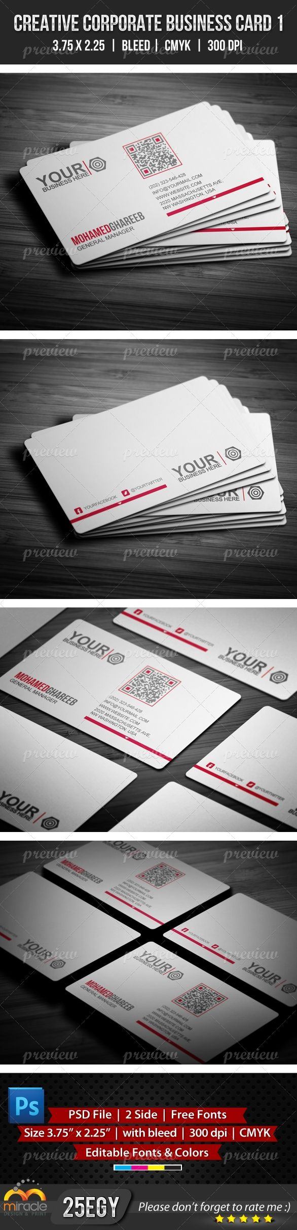 Creative Corporate Business Card 1 Corporate Business Corporate