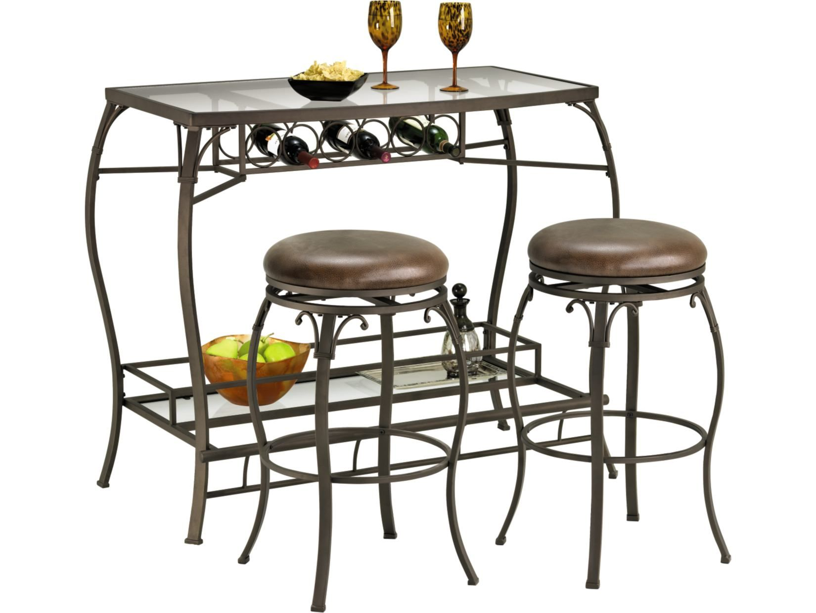 Main Street 3 PC Bar Set Value City Furniture ValueCityPinToWin