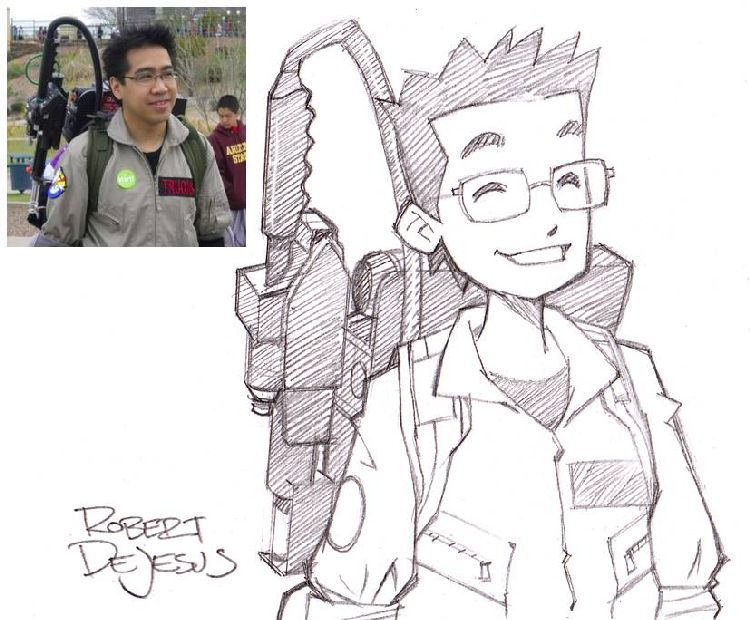 Anime Characters From Real People By Robert De Jesus Photo To Cartoon Cartoon Drawings Cartoon Sketches