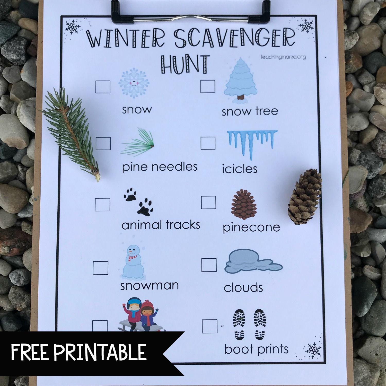 Winter Scavenger Hunt I