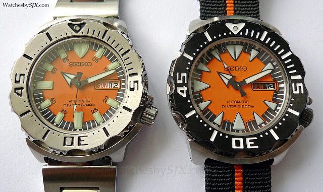 Hands-on comparison: Seiko Monster 4R36 Gen. 2 vs. Seiko Monster 7S26 Gen.1 | Watches By SJX