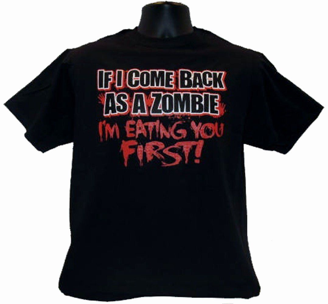 If I Come Back As A Zombie Apocalypse Funny Black T Shirt Tee Funny Shirts Shirts Mens Tops