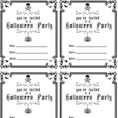 Free Printable Costume Party Invitations Halloween Printables