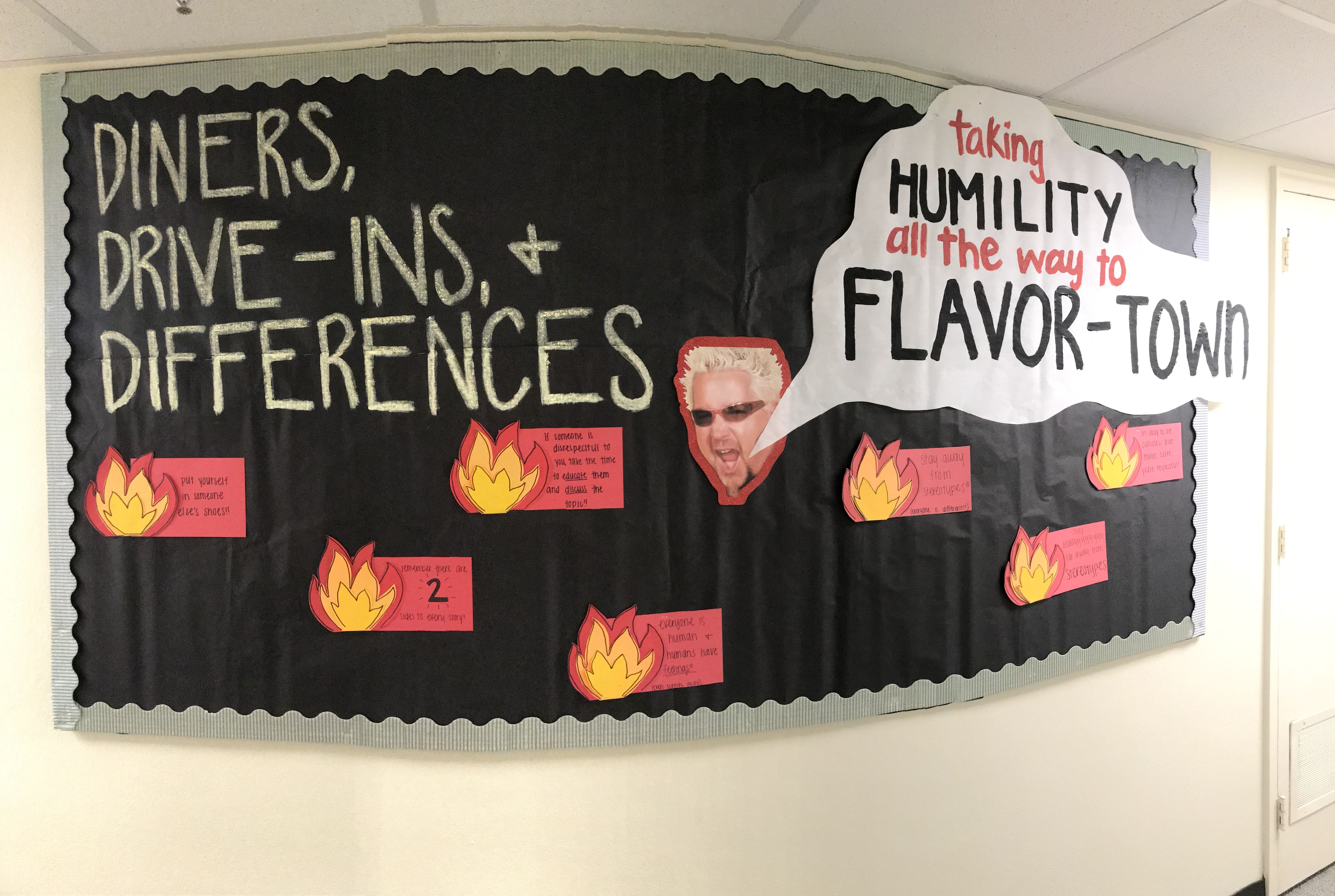 I know she's a little messy but this is a fun funny but informative RA bulletin board for cultural diversity #rabulletinboards