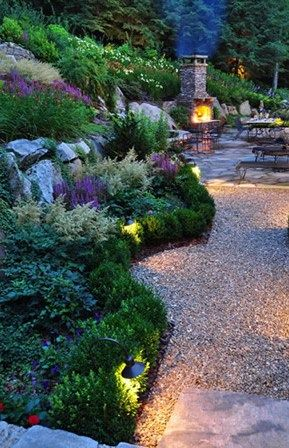 Landscaping Ideas For North Side Of House Path Lighting Network