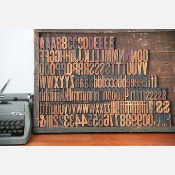 Letterpress Type Set Wood  by Unknown