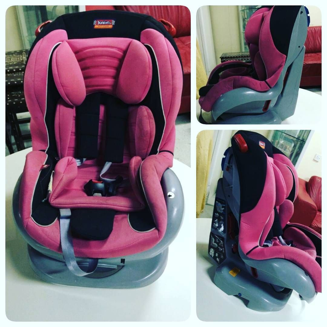 For Sale Car Chair For Baby Brand Juniors With Stand Price 16 Bd للبيع كرسي سيارة للاطفال ماركة Juniors بحالة ممتازة Baby Car Seats Car Seats Baby Car
