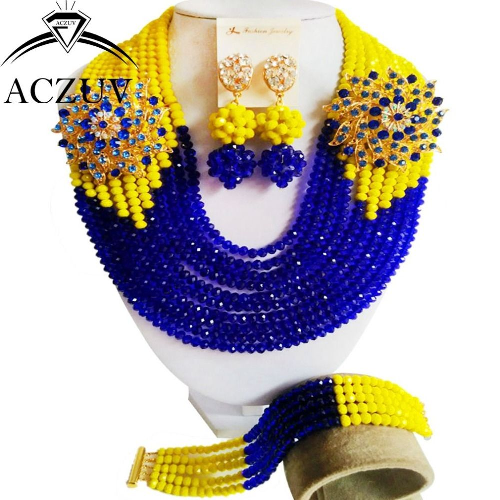 African Traditional Wedding Beads Nigerian Jewelry Set for Women ...
