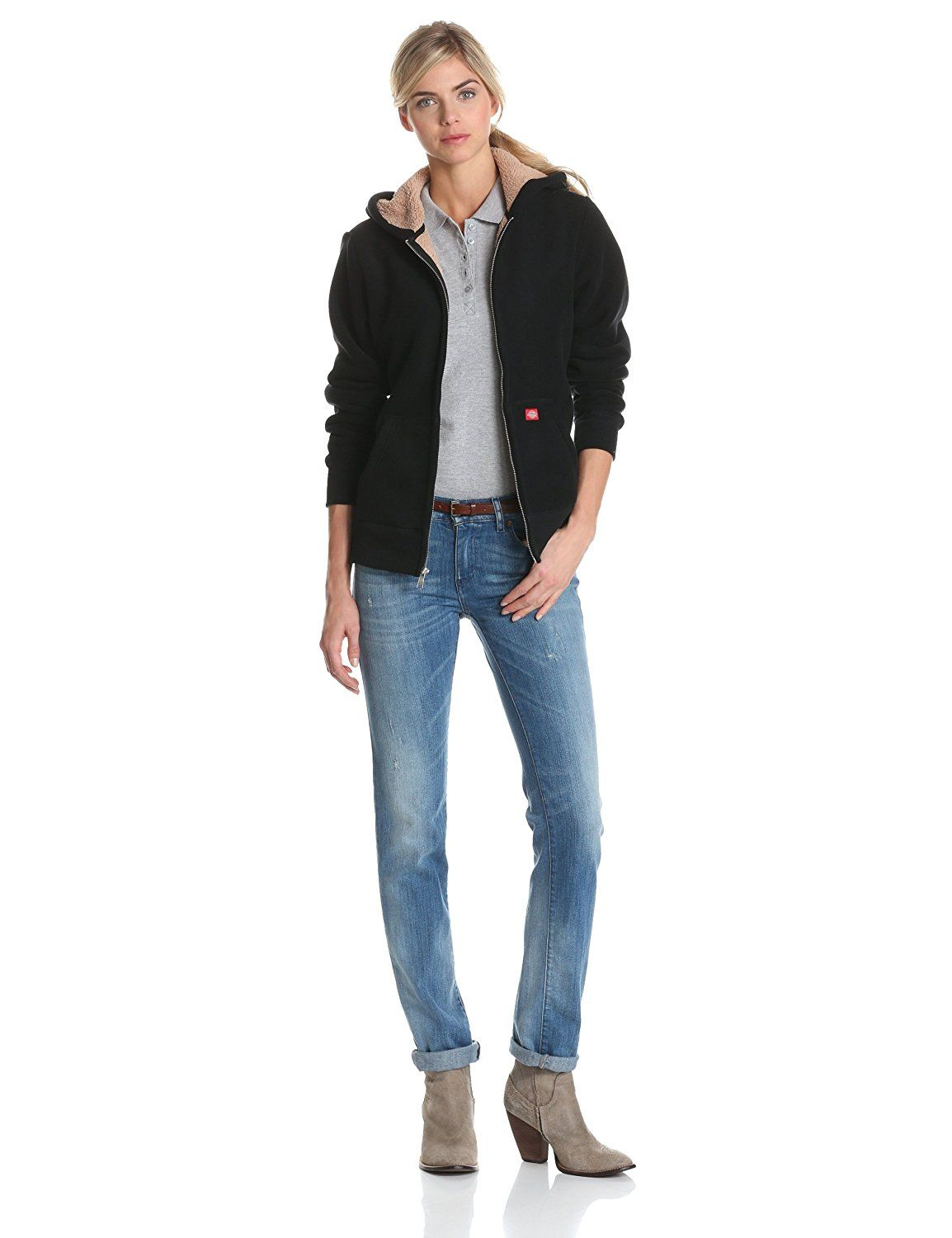 a0ff7210ae2 Dickies Women s Sherpa Bonded-Fleece Hooded Jacket     Insider s special  review you can t miss. Read more   Plus size coats
