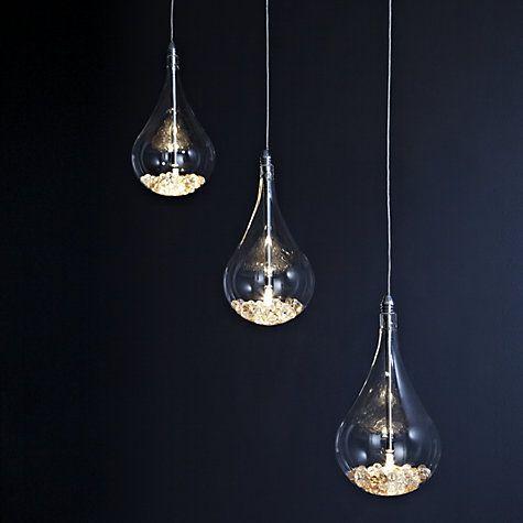 Buy John Lewis Sebastian Linear 3 Light Semi Flush Ceiling Online At Johnlewis LightsLiving Room