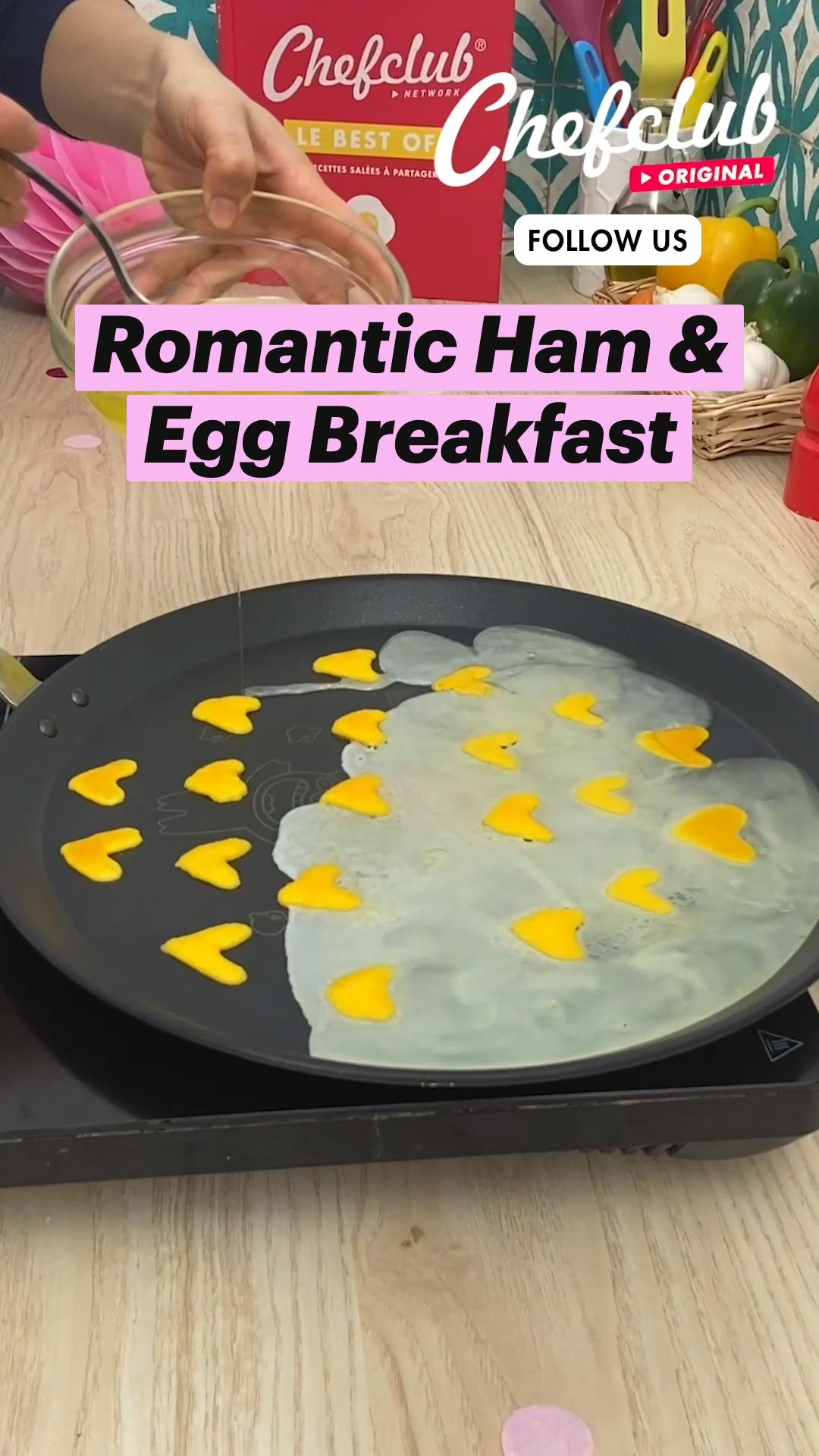 Romantic Ham & Egg Breakfast
