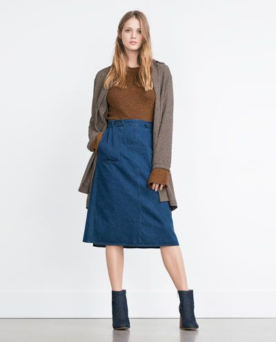 ZARA - WOMAN - WRAPAROUND DENIM SKIRT