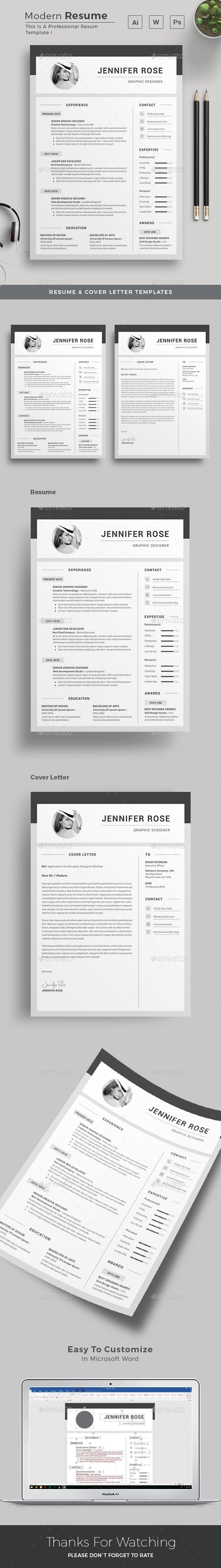 Resume  Word Design Template And Resume Ideas