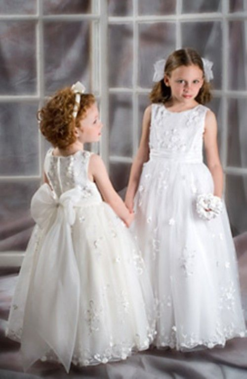 Kids Prom Dresses Children Junior Bridesmaid Wedding Party Gowns First Communion