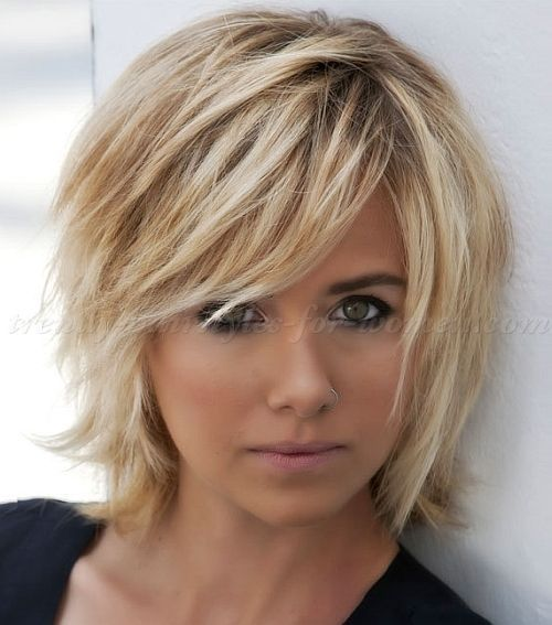 45++ Asymmetrical short bob with layers trends