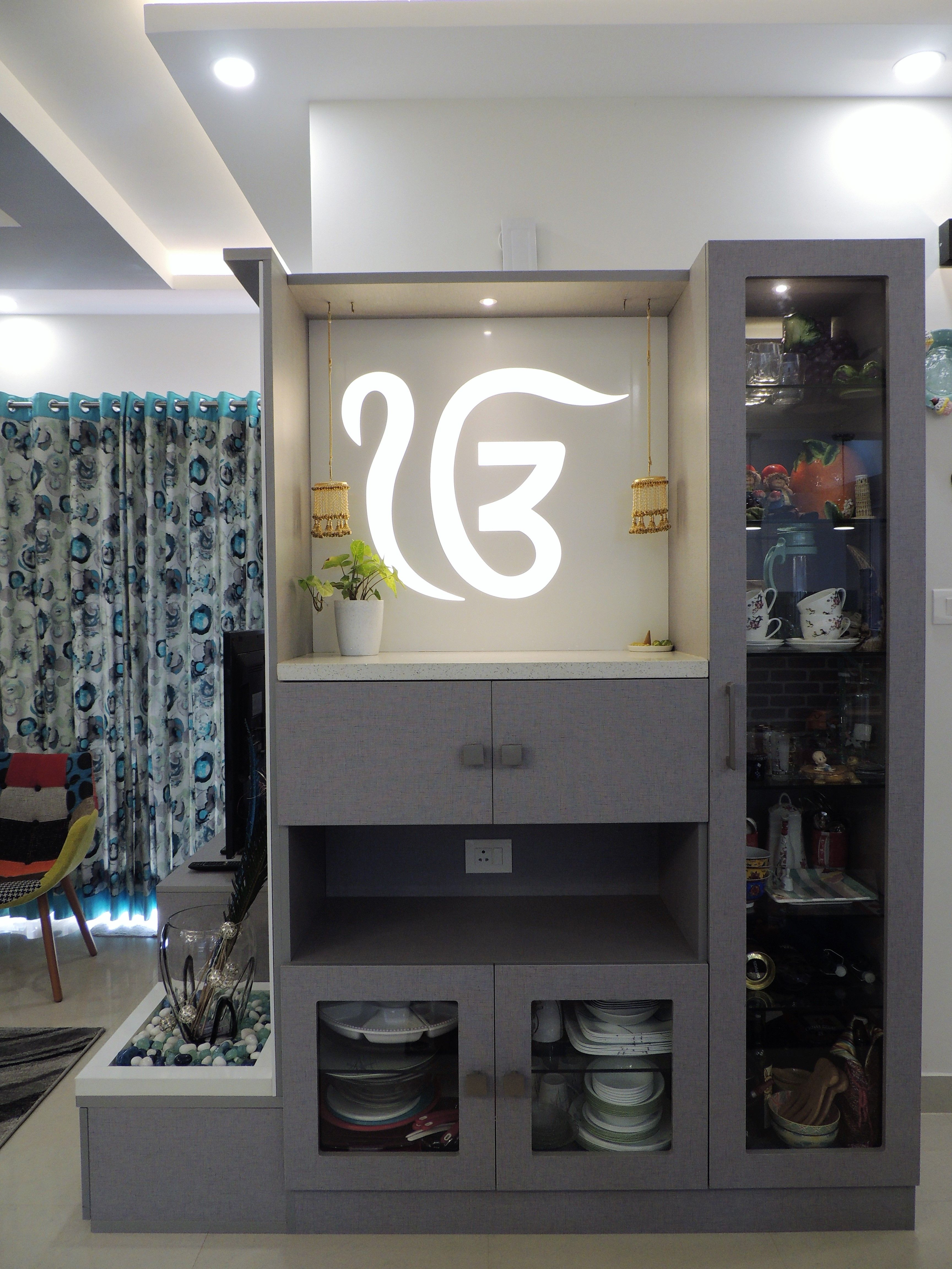 Puja Cum Crockery Unit Home In 2019 Pinterest