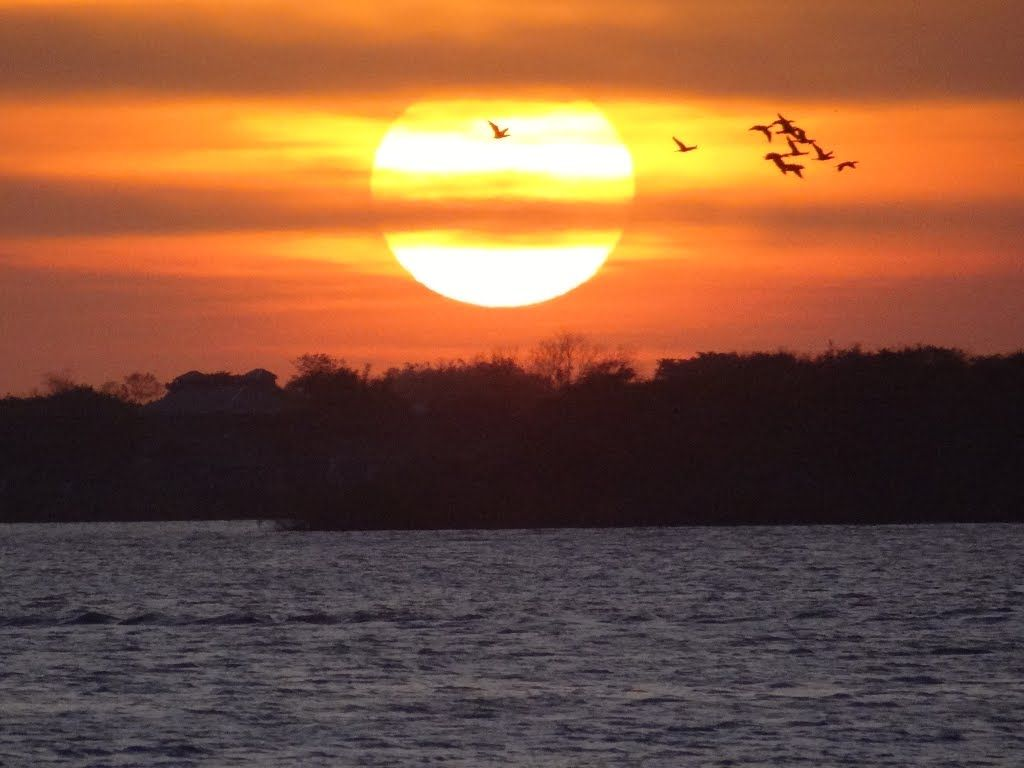 Sunset seen from the Pier Maua in the historic center - Porto Alegre - Rio Grande do Sul - Brazil