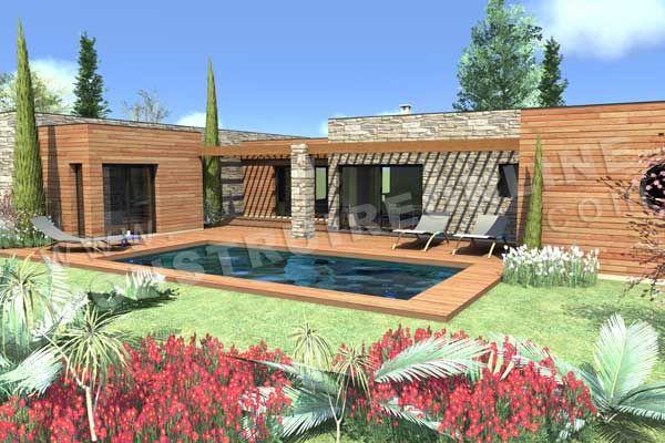plan maison en toit plat piscine COSMOS_2 | maison | Pinterest ...