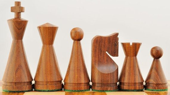 Indian Wooden Weighted Turned Cone Chess Set Shesham Wood 20% OFF use coupon code CHESSBAZAAR